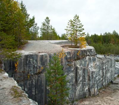 Рожденные в скалах деревья природа осень карелия