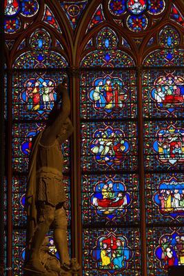 Париж - Нотр-Дам (витражи) 2017 витражи интерьеры нотр-дам ноябрь осень париж соборы