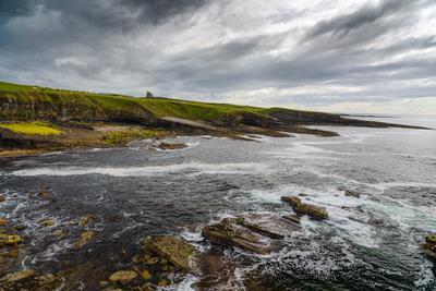 Берег изумрудного острова Ирландия Небо замок океан изумрудный остров