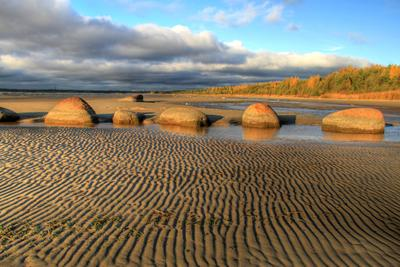 Гранитный берег Финский залив