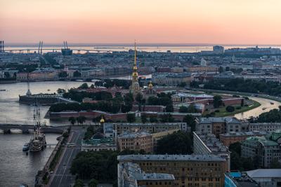вид на Петропавловскую крепость Санкт-Петербург