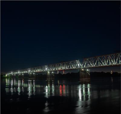 4 часа утра 22 июня 2017 года (2) Новосибирск город река Обь мосты mamanna2007