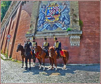 Королевская гвардия всегда в строю Венгрия Будапешт Budapest гвардия