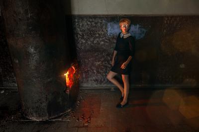 *** urban fashion model woman fire