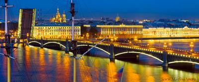 Золото Белых Ночей. Санкт-Петербург Петербург Питер город белые ночи красота путешествия отдых разведённые мосты золотой  Троицкий мост