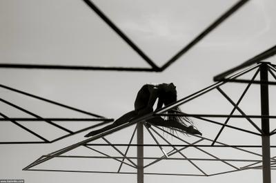 Геометрия перфекциониста гибкость тело зонт зонтик небо силуэт очертание контровой столб оргазм перфекционизм линии спорт пилон шпагат