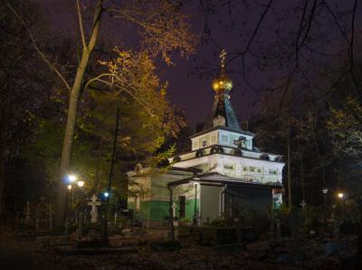 Утренняя тишина Часовня Блаженной Ксении Смоленское кладбище Санкт-Петербург Васильевский остров
