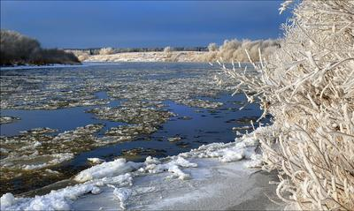 В ноябре ноябрь река Ухта Коми 14.11.2020