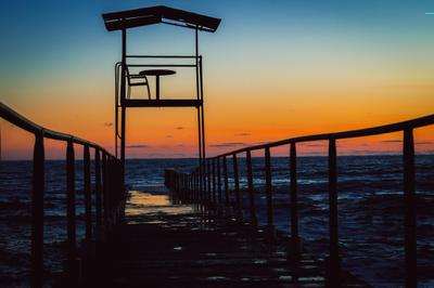 Вечер в Сочи сочи закат море