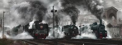 9П (промышленный) 9П паровоз ФД Су Родина СССР вокзал пути рельсы