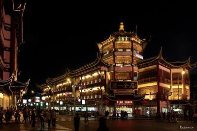Шанхайские картинки #8 Вечерний променад Шанхай Китай Shanghai China vakomin