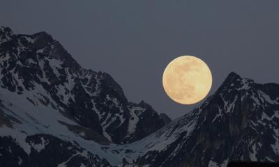 ***Розовая Луна Куршевель Луна розовая горы Альпы