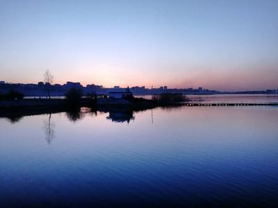 Безмятежность город sunset