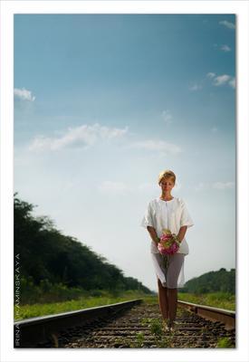 перспективное ожидание невеста, свадебная фотография