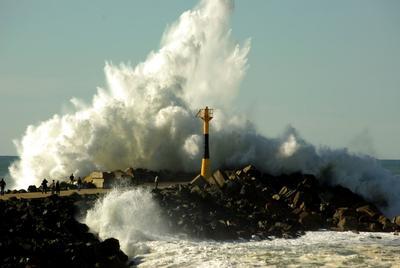 Стихия Биарритц, Франция, Океан, волны