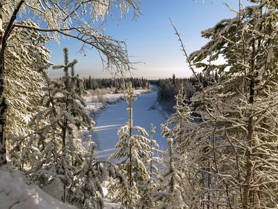 Мороз и солнце-день чудесный... Зима тайга мороз река