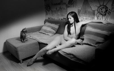 Портрет сфинкса с девушкой 2