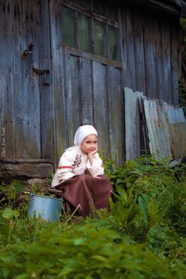 *** дети дорога деревня детское фото деревенская девочка крестьянка крыльцо