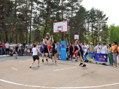 отборочные игры по уличному баскетболу в Хабаровске спорт здоровье баскетбол