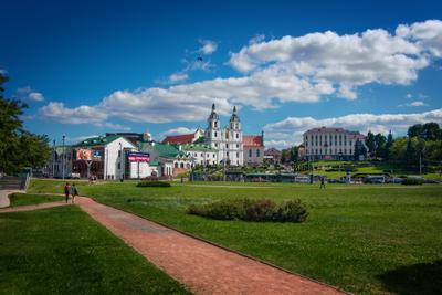 *** город Минск Беларусь люди церковь