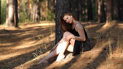 Солнечное лето портрет девушка модель