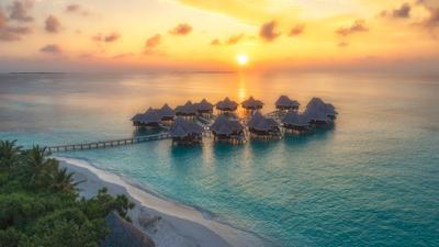 Закаты Индийского океана Закат Мальдивы