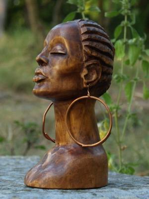 Принцесса Африки резьба по дереву скульптура