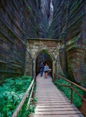 Вход в мир скал и камней. чехия скально место скалы