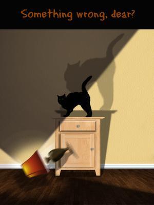 Что-то не так, дорогуша? кот комната свет лампа падение поведение тени кошка