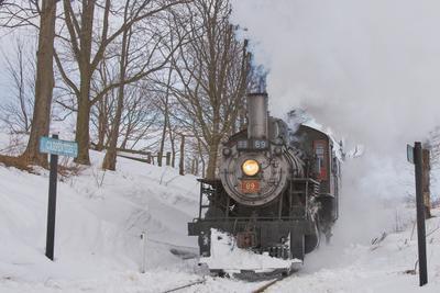 *** паровоз зима ретро