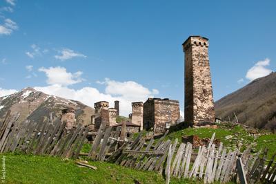 Башни Ушгули Ушгули Сванетия Грузия Башни 13 век