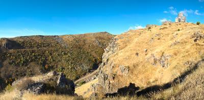 Панорама крепости Амберд