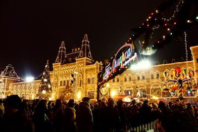 Новогодняя ярмарка Красная площадь Москва путешествия ярмарки
