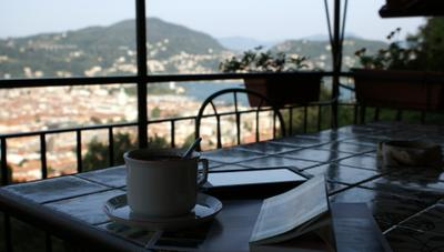 """Morning coffee with """"panorama phylosophica"""" )"""