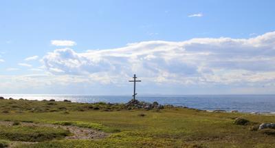 Поклонный крест Большого Заяцкого острова белое море соловецкие острова остров большой заяцкий