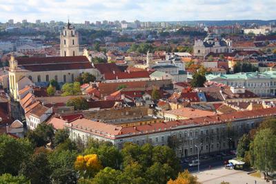 Вильнюс с Башни Гедиминаса! архитектура балтия вильнюс город городской пейзаж европа крыши литва осень панорама прибалтика путешествия
