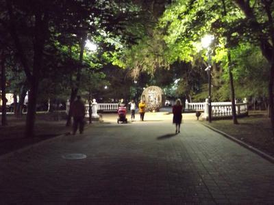 Пушкинская в вечернем освещении Ростов