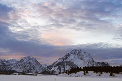 Зима в Тетоне Тетон США национальный парк зима горы закат