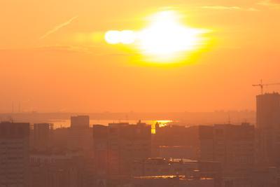 Долгожданный теплый день Пермь лето солнце закат тепло