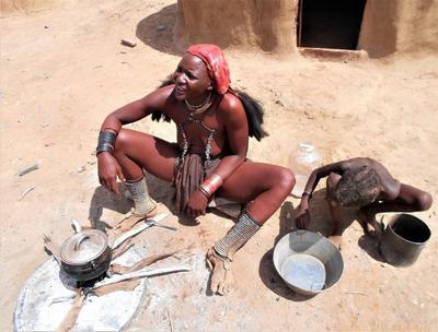 Женщина племени химба. Намибия. африка химба намибия