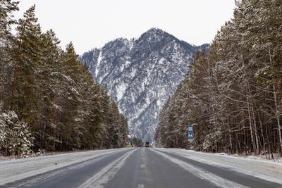 *** горы дорога зима