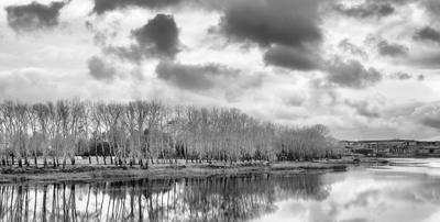 Невесёлый пезаж осень облака