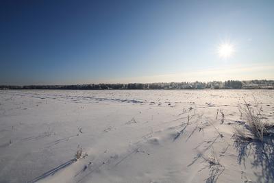 Солнце. зима снег мороз природа
