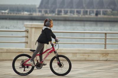 Велогонщица...