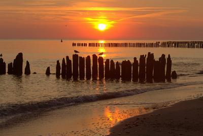 Рассвет на Балтике Рассвет море Балтика
