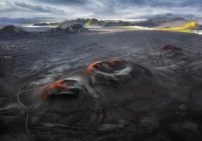 Вулканы Исландии Ландманналаугар Исландия кратер