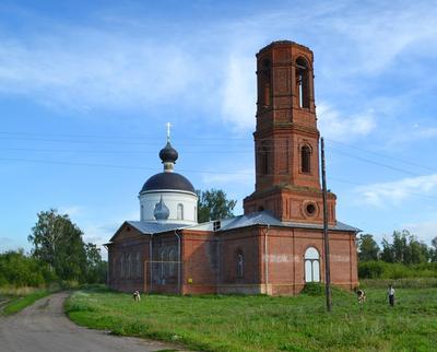 """Храм """"Покрова"""". Бурминка. Храм. Покрова. Сельская церковь."""