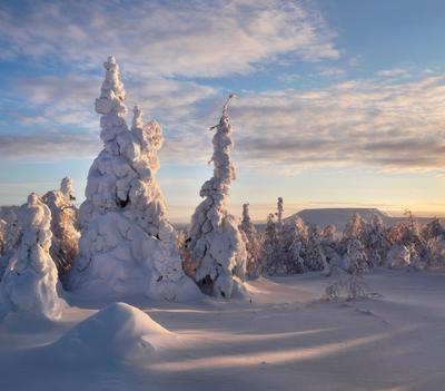 Уральская Лапония Пейзаж природа Урал зима горы снег рассвет Сергей Макурин Бродяга с севера