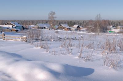 Зима в деревеньке зима сырьяны вятка