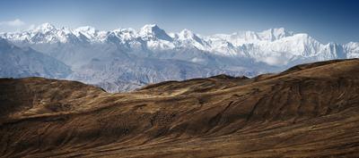 Непал. nepal Himalaya landscape upper mustang